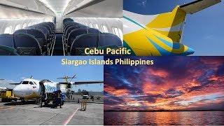 Cebu Pacific ATR72 to Siargao Islands (PARADISE on Earth)