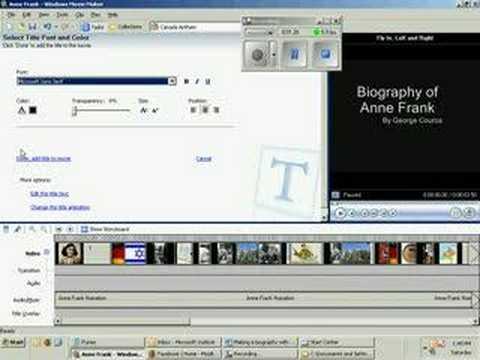 Adding a Title To Windows Movie Maker
