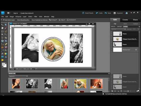 Photoshop Elements - Creating Custom Frame Layers