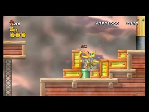 New Super Mario Bros. Wii 100% Walkthrough Part 18 - World 8 (8-7, 8-6, 8-A) All Star Coins