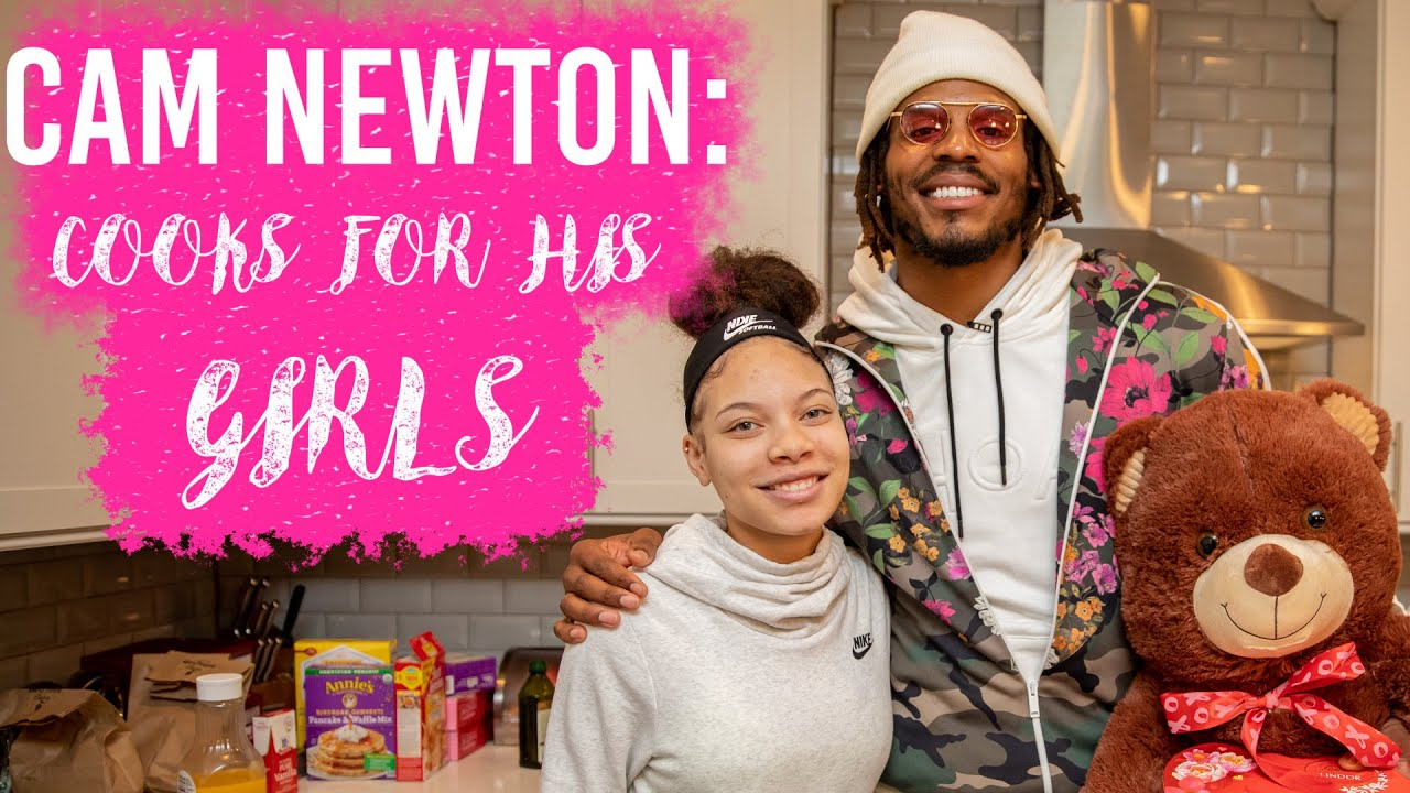 Cam Newton Cooking for his Girls