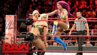 Bayley, Sasha Banks & Dana Brooke vs.  Charlotte Flair, Nia Jax & Emma: Raw, April 3, 2017