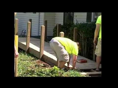 Volunteers Build Wheelchair Ramp for Elderly Man