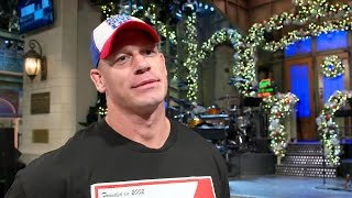 "John Cena discusses the impact and expectations of hosting ""Saturday Night Live"""