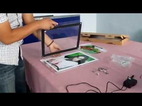 How to use super Slim Acrylic LED Light Box