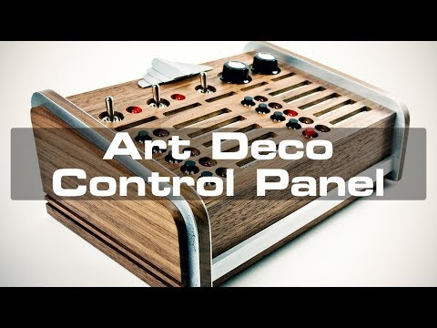 Handcrafted Art Deco Control Panel
