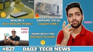 Realme X,Samsung S10 Caught Fire,Oneplus 7 Pro NO 3.5 Jack,Moto E6,Realife Yeti Spotted?-#827
