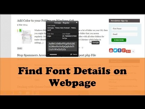 WhatFont- Find Font Details on Web Page Easily