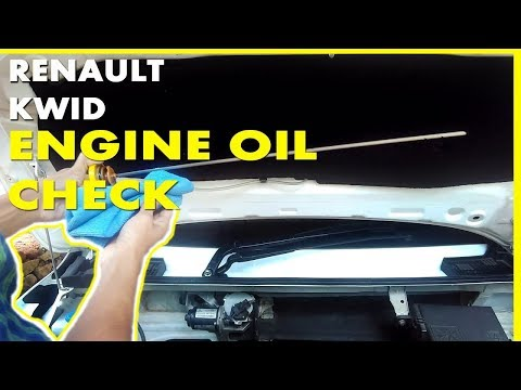 Renault Kwid Engine Oil Level Check - Must Do Before Long Drive