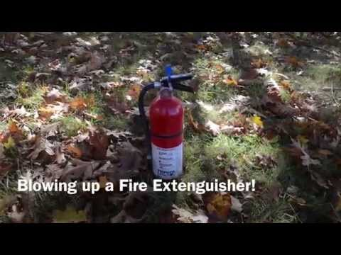 What happens when you shoot a fire extinguisher with a 44 magnum?
