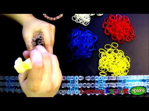 Rainbow Loom: Monster Tail Loom Inverted Fishtail Bracelet Tutorial
