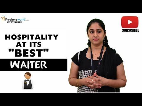 Job Roles For Waiter –  Hotel,Restaurant,Food handling procedure