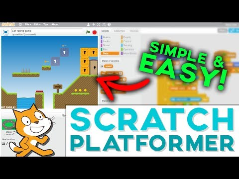 Scratch Tutorial: Platformer Game! (Get featured 2017) - Updated