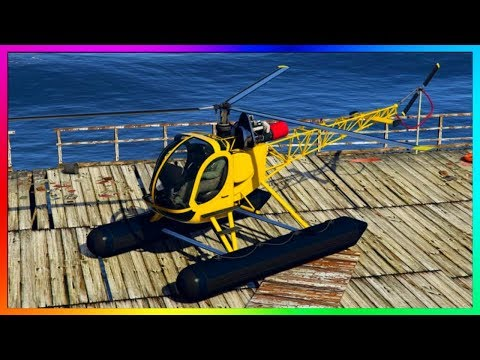 GTA 5 ONLINE: NEW FULLY AMPHIBIOUS HELICOPTER DLC CUSTOMIZATION & UPGRADES! (Sea Sparrow)