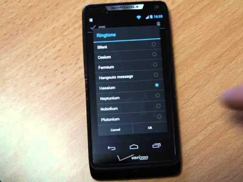 Motorola Droid Razr M - Alarm ringtones