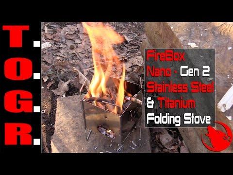Ultralight! - FireBox Nano : Gen 2 Stainless Steel & Titanium Folding Stove