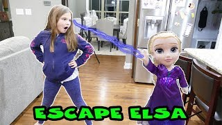 Escape The Crazy Elsa Doll! Elsa Plays Tricks On Me! Frozen 2 Toys Gone Crazy