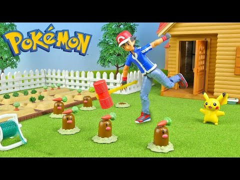 Pokemon Ash vs Diglett - Stop Motion - Pokémon Toys