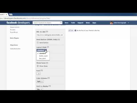 How to insert Facebook like button on website
