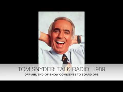 Tom Snyder - unedited, off-air comments on ABC talk radio show