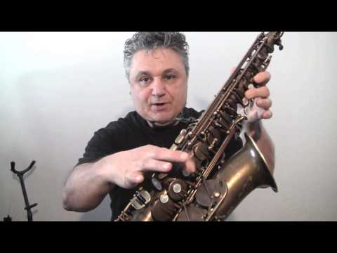 Trevor James Alto Sax with a Meyer Hard Rubber and Claude Lakey Metal Mouthpiece