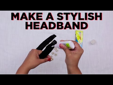 D.I.Y. Hair Accessories| How to Make a Stylish Headband Yourself | StyleIndi | Indi In The City