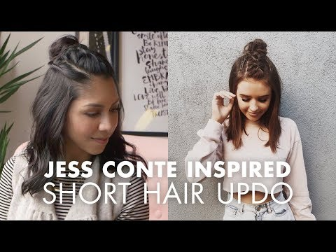 Half Updo for Short Hair (Jess Conte Inspired)