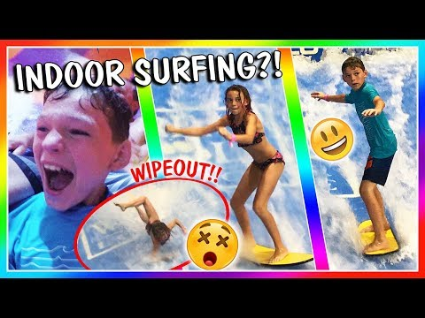 CRAZY WATER SLIDES AND SURFING AT THE GREAT WOLF LODGE | VLOG | We Are The Davises