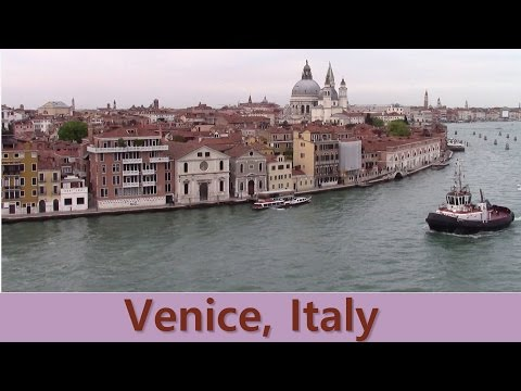 Holland America Cruise Line HAL ms OOSTERDAM. WOW !!! - MAGNIFICENT View of Venice, Italy. [2016]