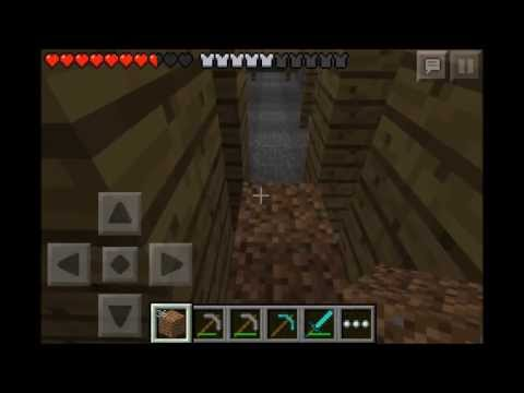 Minecraft PE : Hardcore Survival Episode #7 - Must Get the Lava Bucket!