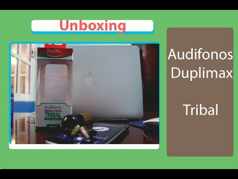 Unboxing Audifonos Duplimax tribal - Español