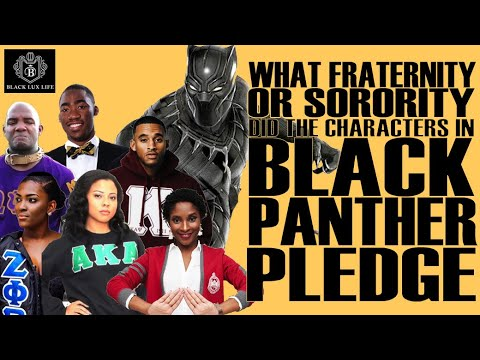 Black Excellist:  What Fraternity or Sorority Would the Characters of Black Panther have Pledged?