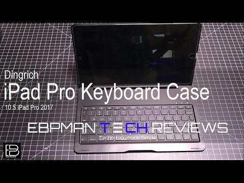 iPad Pro 10.5 Bluetooth Keyboard Case with Lighted keys from Dingrich
