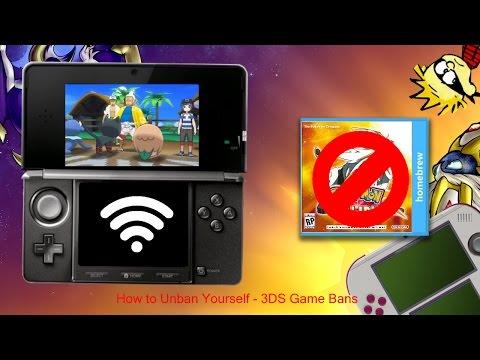 [Nintendo 3DS]How to Unban Yourself (Regarding Game Bans & Pokémon Sun/Moon Bans)