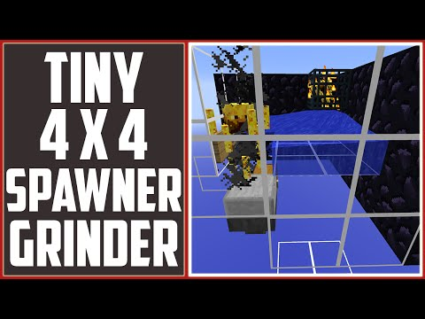 Tiny Spawner Grinder - 4 x 4 Corner Grinder! [Minecraft Faction Tutorial]
