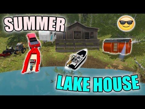 SUMMER LAKE HOUSE | PART 2 | SMOKE VALLEY | FARMING SIMULATOR 2017