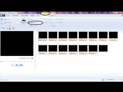 How to make a lyric video using windows movie maker (WMM)