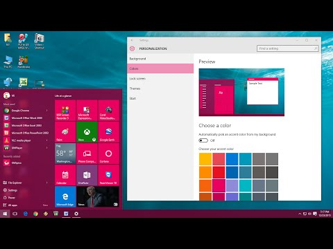 How to Change Color in Windows 10 (Start, Taskbar, Title Bar, Action Center)