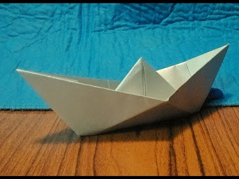 How to make the world record paper boat which float on water
