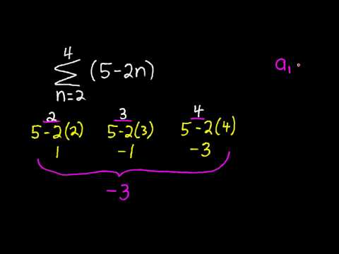 Arithmetic Series Finding the Sum of a Finitie Series #1