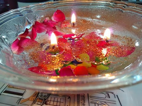 DIY : Floating Candle || Home Made Gel Candle.