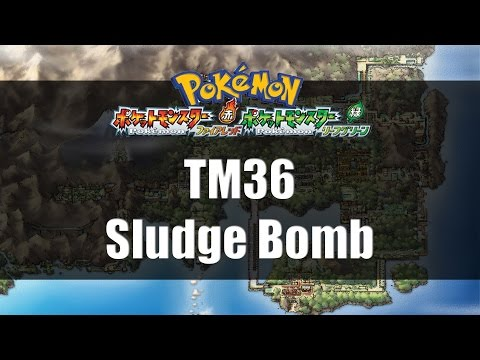 Pokemon Fire Red & Leaf Green | Where to find TM36 Sludge Bomb