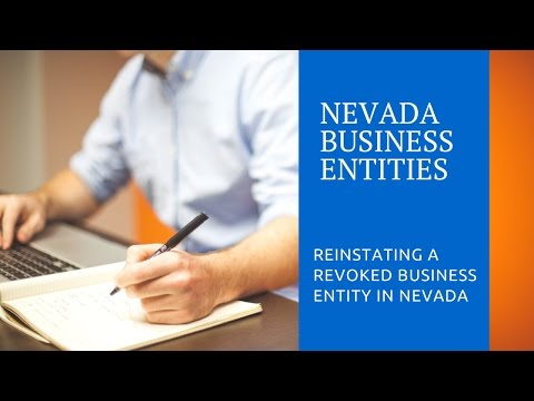 Reinstating Your Nevada Business Entity