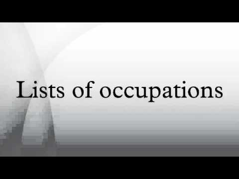 Lists of occupations