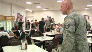 Air Force BMT Zero week lunch