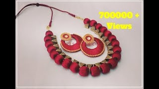 How to make Silk Thread Bail Necklace at Home !!
