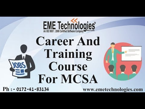 Career And Training Course For MCSA | Pass MCSA Exam | EME Technologies