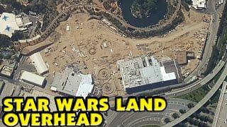 STAR WARS LAND Overhead! - New Aerial Image Star Wars Galaxy