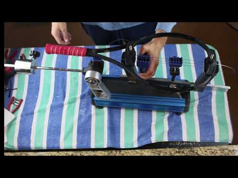 How to start the main strings with 2 flying clamps and a dropweight stringer