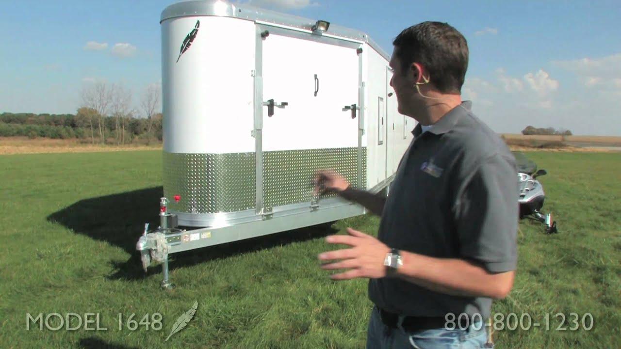 Super Snowmobile Trailer - Take a tour of the Featherlite Model 1648